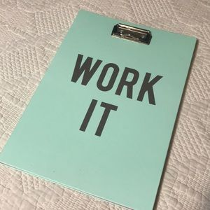 Work It Clipboard and Legal Pad NWT